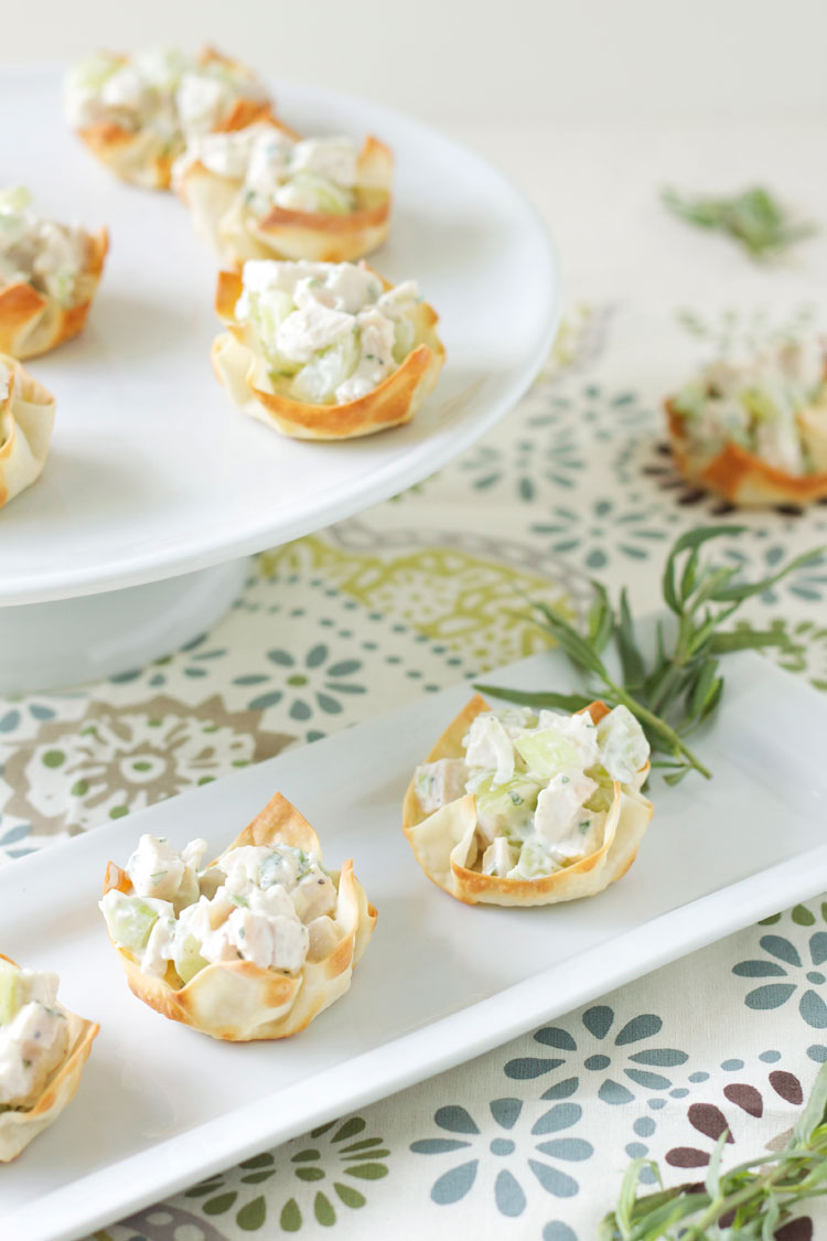 Tarragon Chicken Salad Wonton Cups