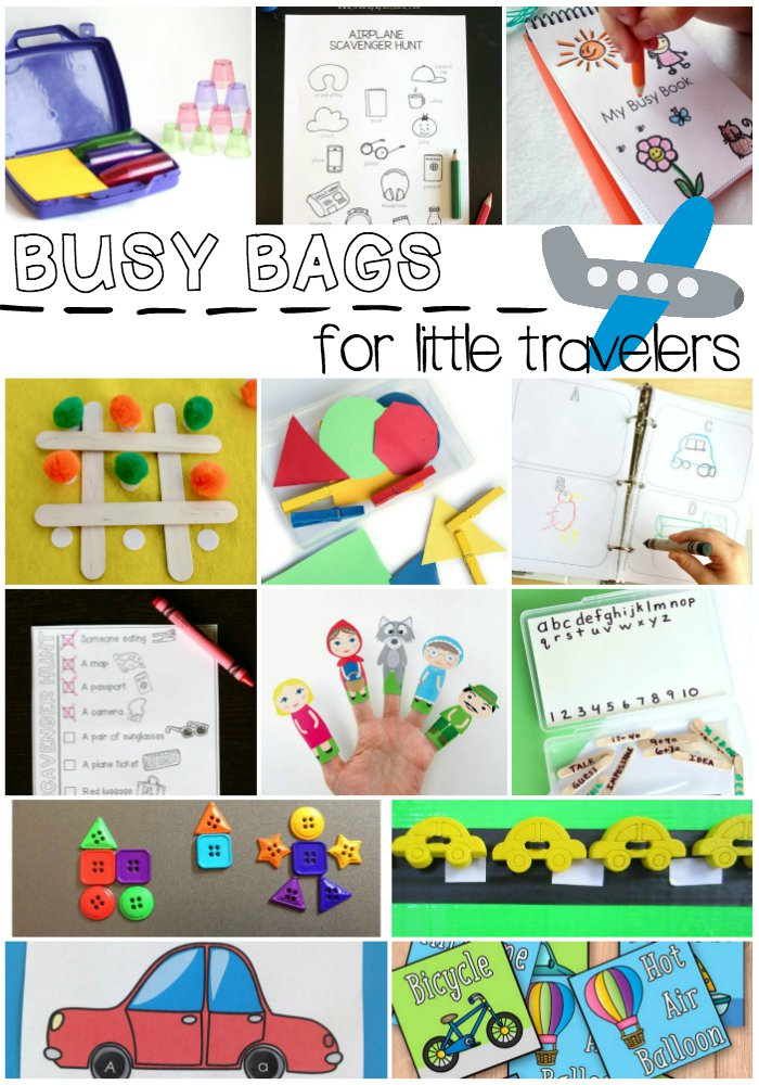 Busy Bags Perfect for Little Travelers!