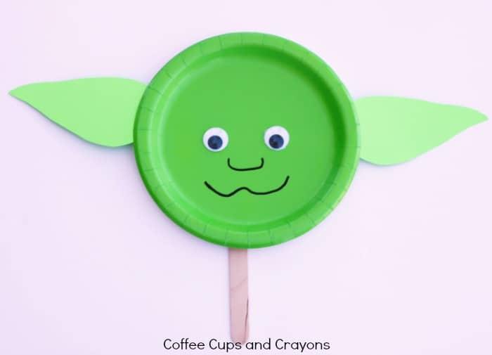 Make a Simple Star Wars Craft Yoda Puppet!
