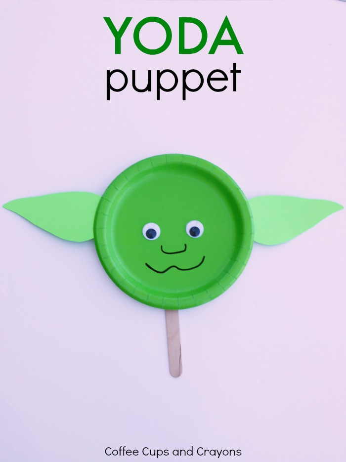 Yoda puppet star wars craft coffee cups and crayons for Star wars arts and crafts