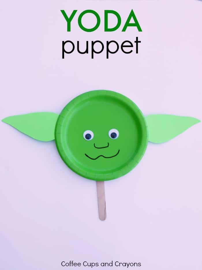 Yoda Puppet Star Wars Kids Craft!