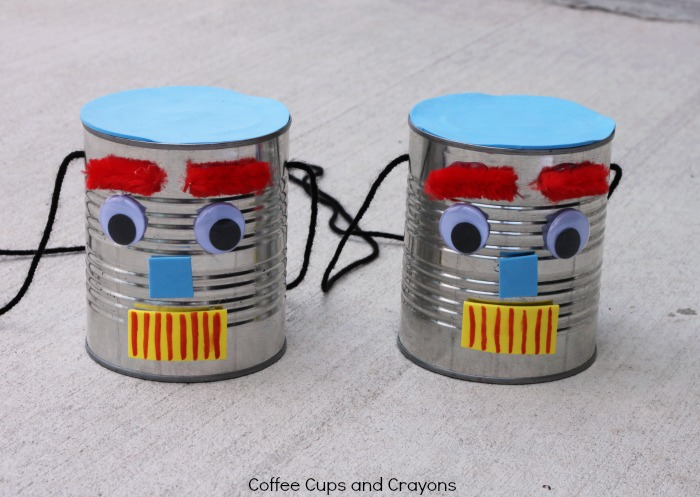 DIY Tin Can Stilts Craft for Kids