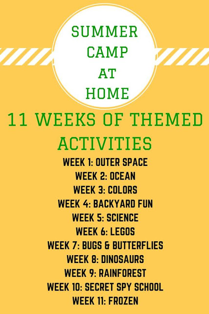 Free and FUN Summer Camp at Home series! 11 weeks of ideas to keep kids busy and having fun!