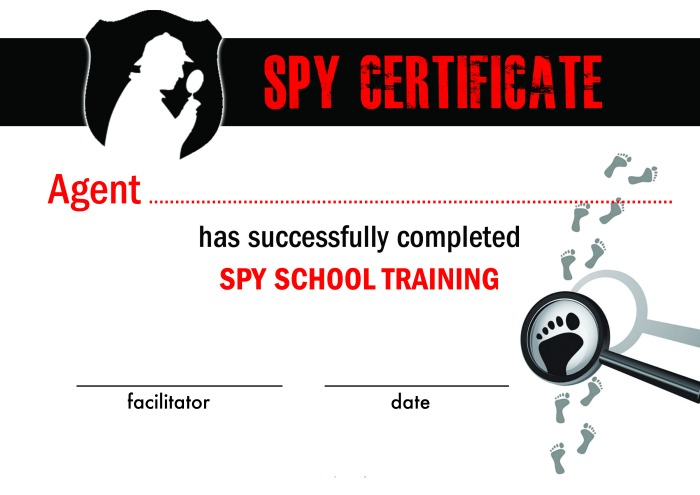 Spy school kids activities coffee cups and crayons for Spy id card template