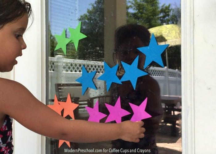 Star Theme Window Stickers