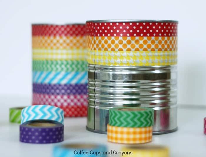 Tin Can Stilts Craft for Kids