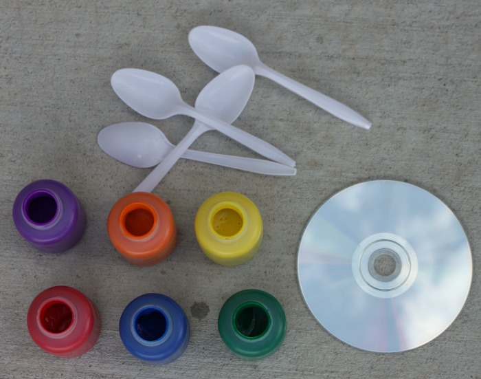 How to Make Action Art Paintings with CDs!