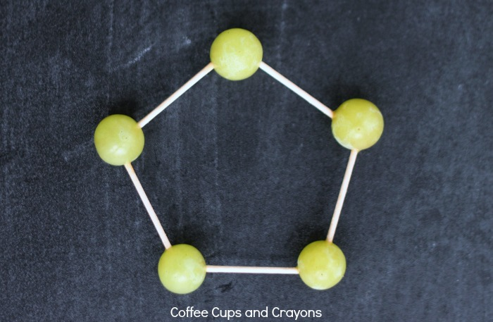 Learn about shapes with grapes! A fun activity for kids!