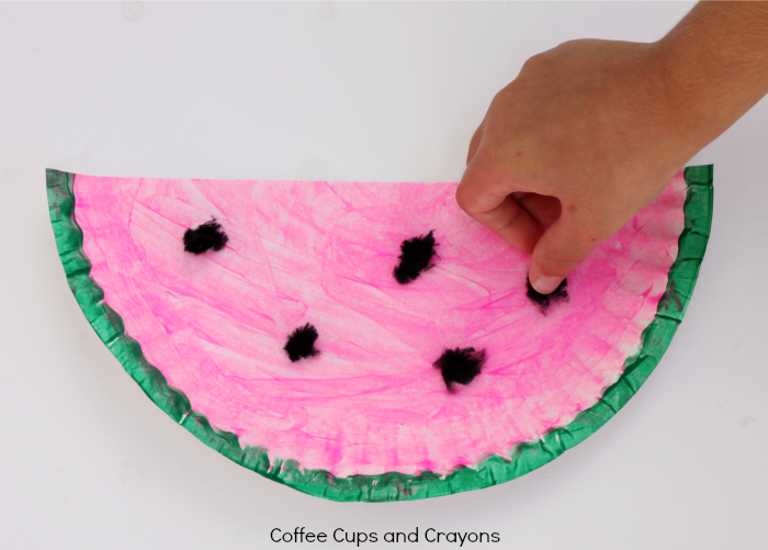 Simple Watermelon Craft for Preschool or Toddlers