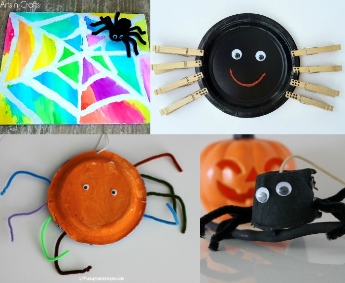 Fun spider crafts for kids!