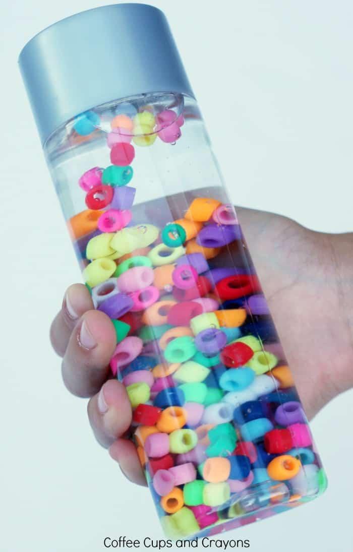Rainbow Sensory Bottle for Preschool