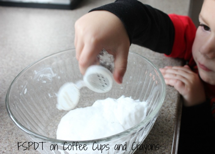 how to make snowman slime