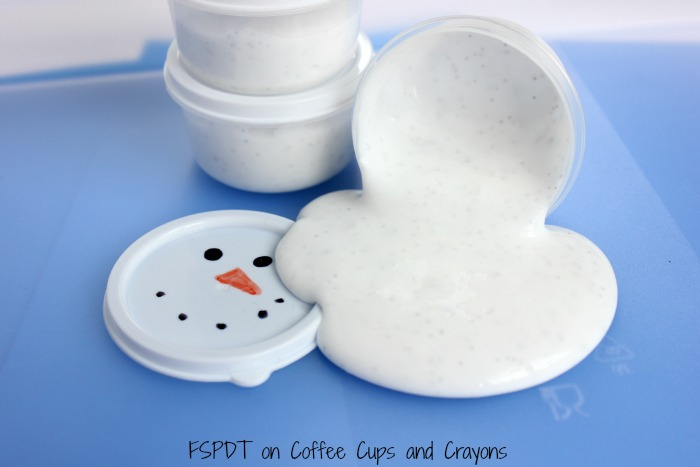melted snowman slime simple science for kids