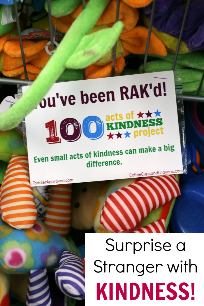 A secret act of kindness for strangers that kids love to do! So easy! Join the 100 Acts of Kindness Project!