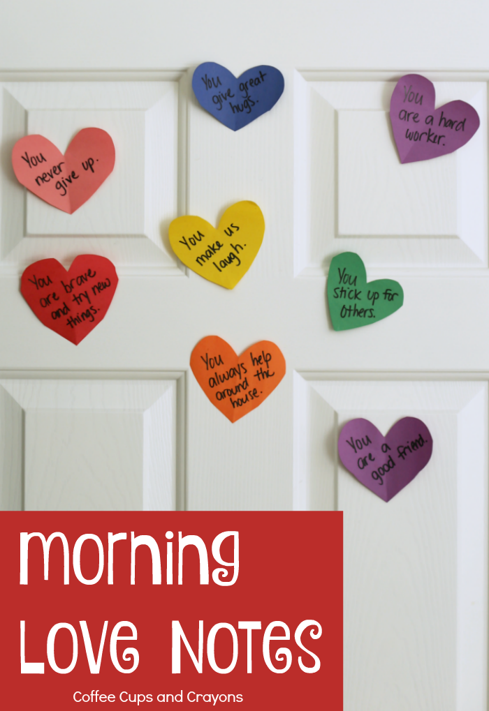 Leave a love note for your child each morning! Such a sweet act of kindness for parents!