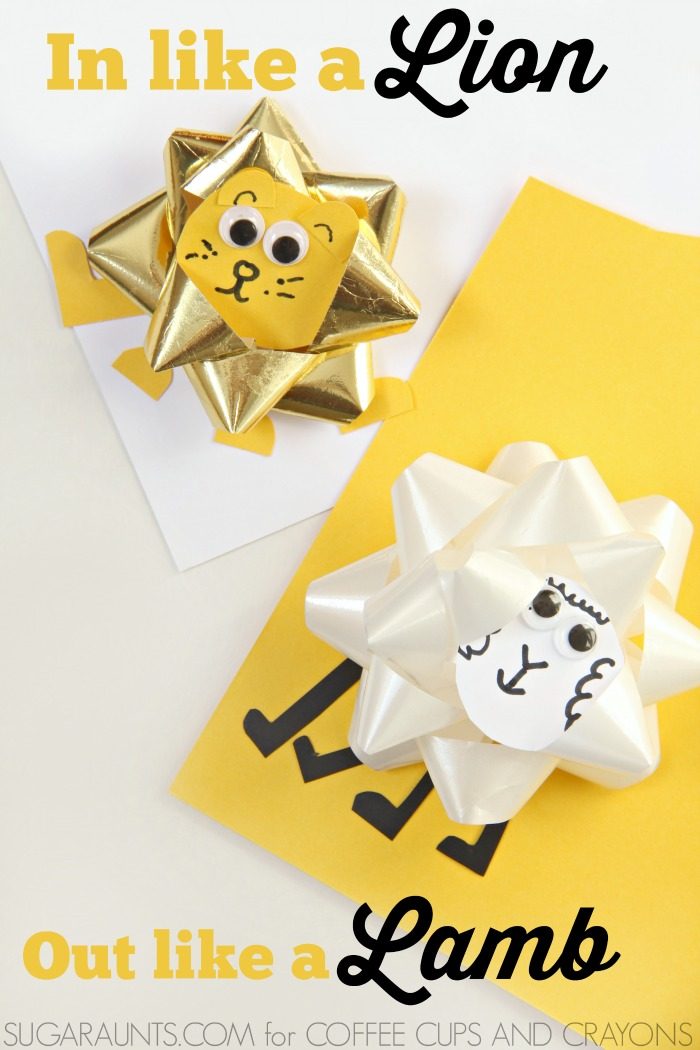 Make an In Like a Lion and Out Like a Lamb Craft for Spring this March. Kids can work on fine motor skills, too!