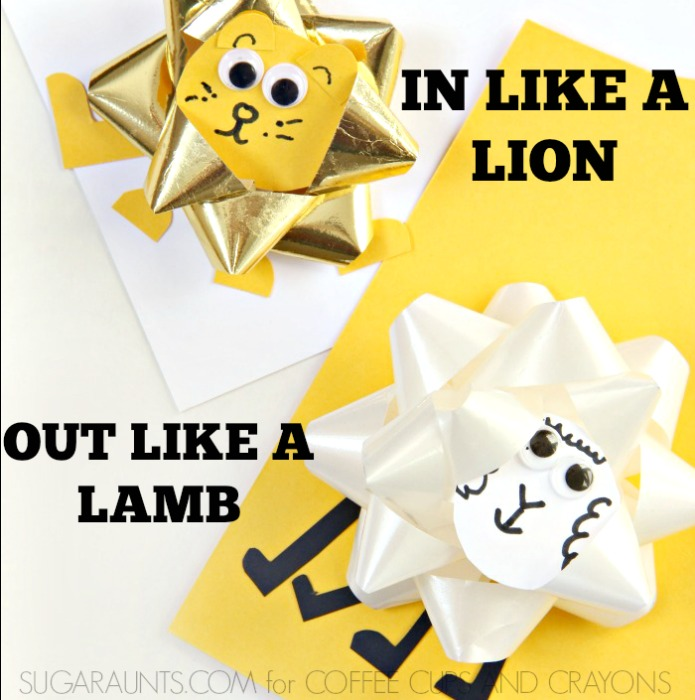 Kids will love to make this lion and lamb craft for Spring!