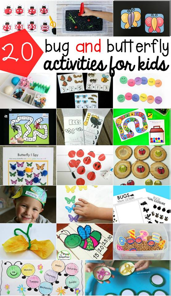 20 Bug and BUtterfly Activities for Kids!