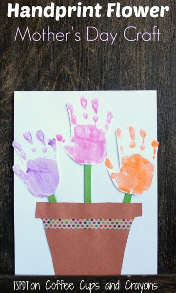 Handprint Flower Pot Craft