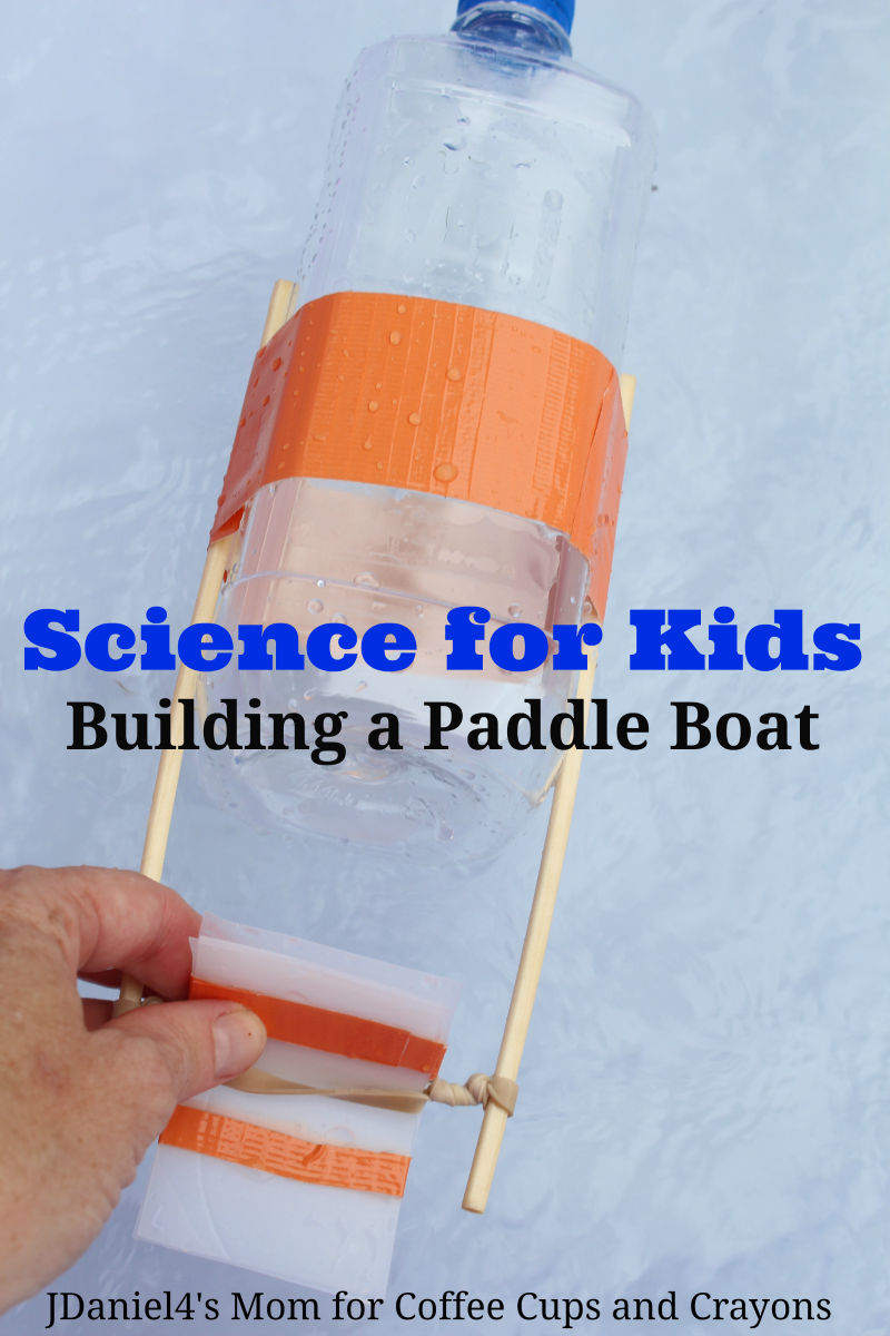 Science for Kids--Build a Paddle Boat! Try it indoors or out for some fun STEM learning.
