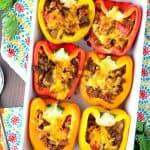 Skinny Taco Stuffed Peppers