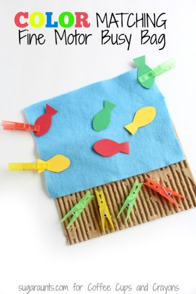 Color Matching Fine Motor Busy Bag