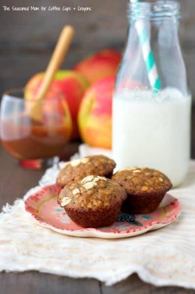 Apple Butter Oatmeal Mini Muffins