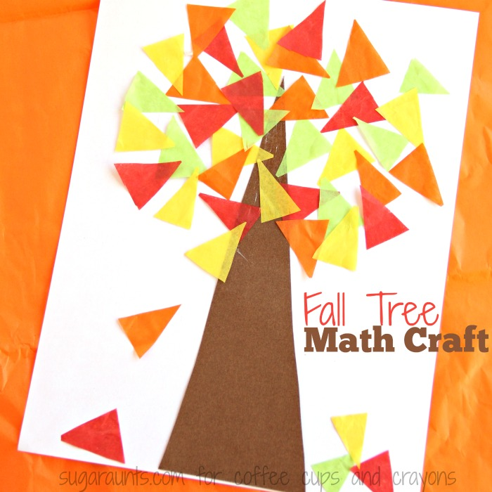 Kids will love to make this Fall Tree math Craft!