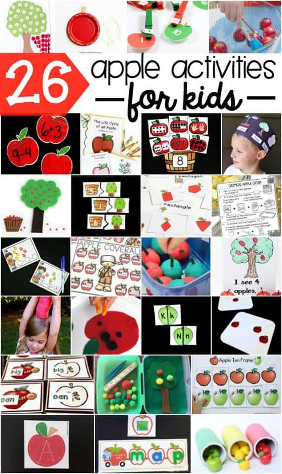 Tons of fun apple activities for kids!