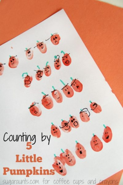 Five Little Pumpkins Counting By Fives