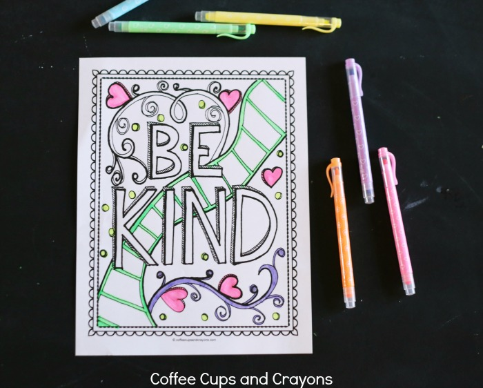Free Kindness Coloring Page for Kids