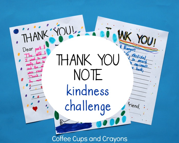 Take the thank you note kindness challenge with your kids!