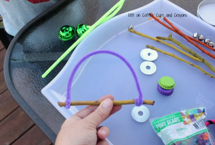 how to make a wind chime with kids
