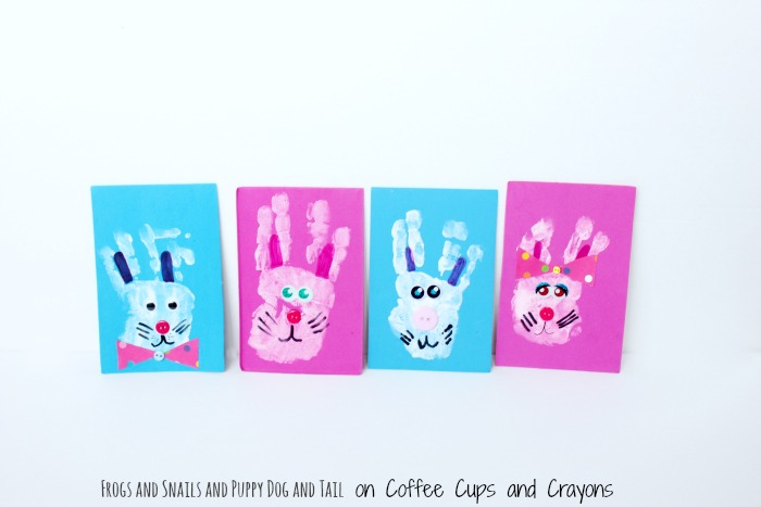 Bunny Hanprint Craft for Easter