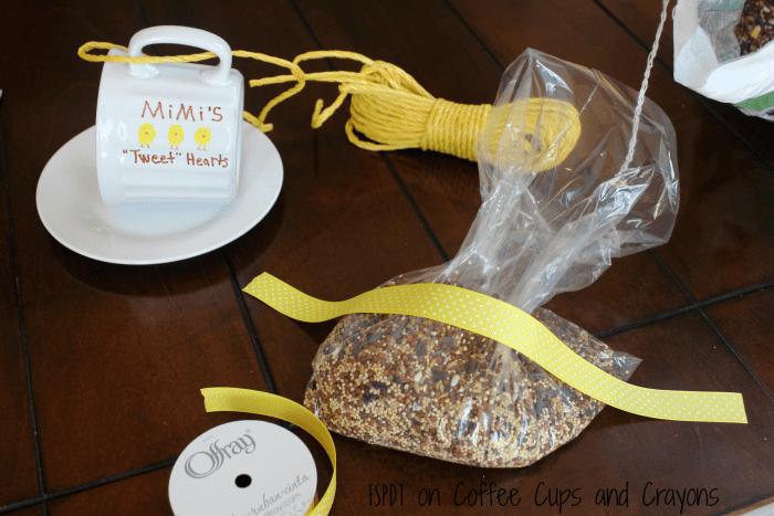 DIY Bird Feeder gift kids can help make