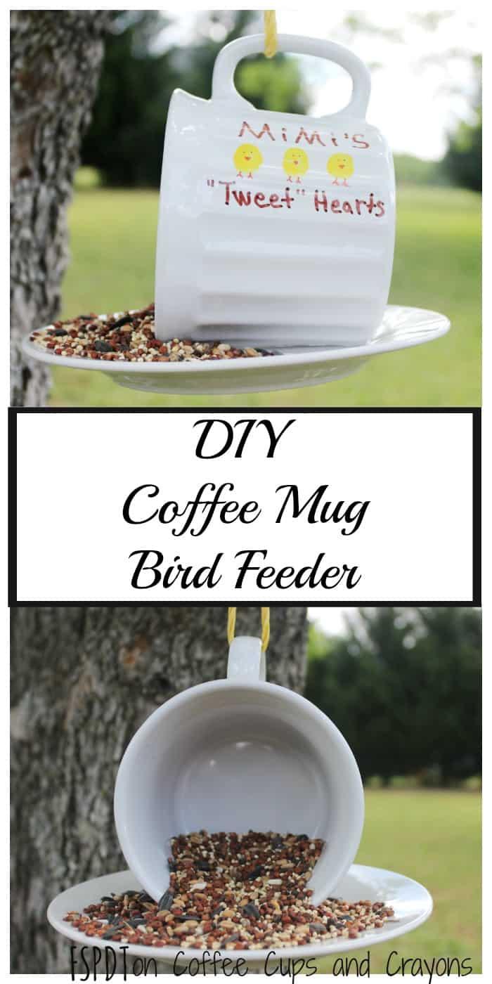 DIY Coffee Mug Bird Feeder