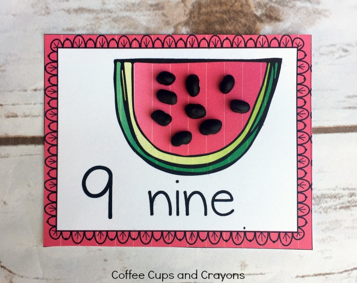Free Printable Watermelon Counting Cards