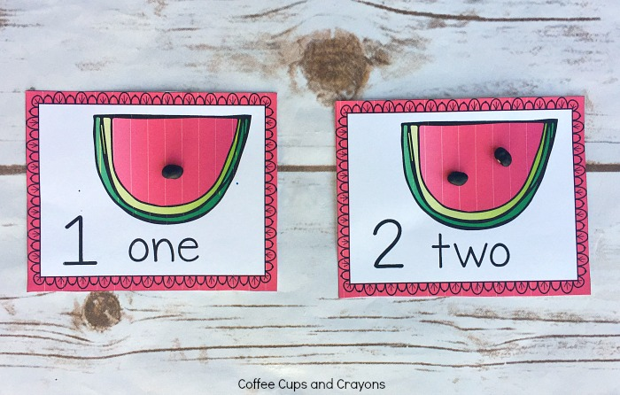 Super cute free printable watermelon counting card busy bag!