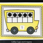 Printable School Bus Ten Frame Activity