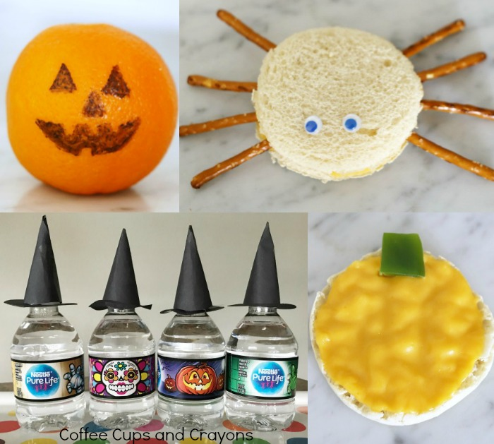 Super cute and easy healthy Halloween snacks for kids!
